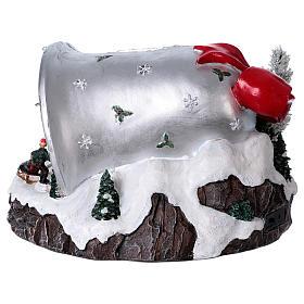 Pueblo navideño campana de Navidad 25x35x40 cm s5
