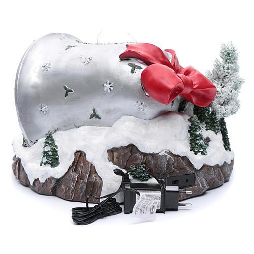 Pueblo navideño campana de Navidad 25x35x40 cm 5