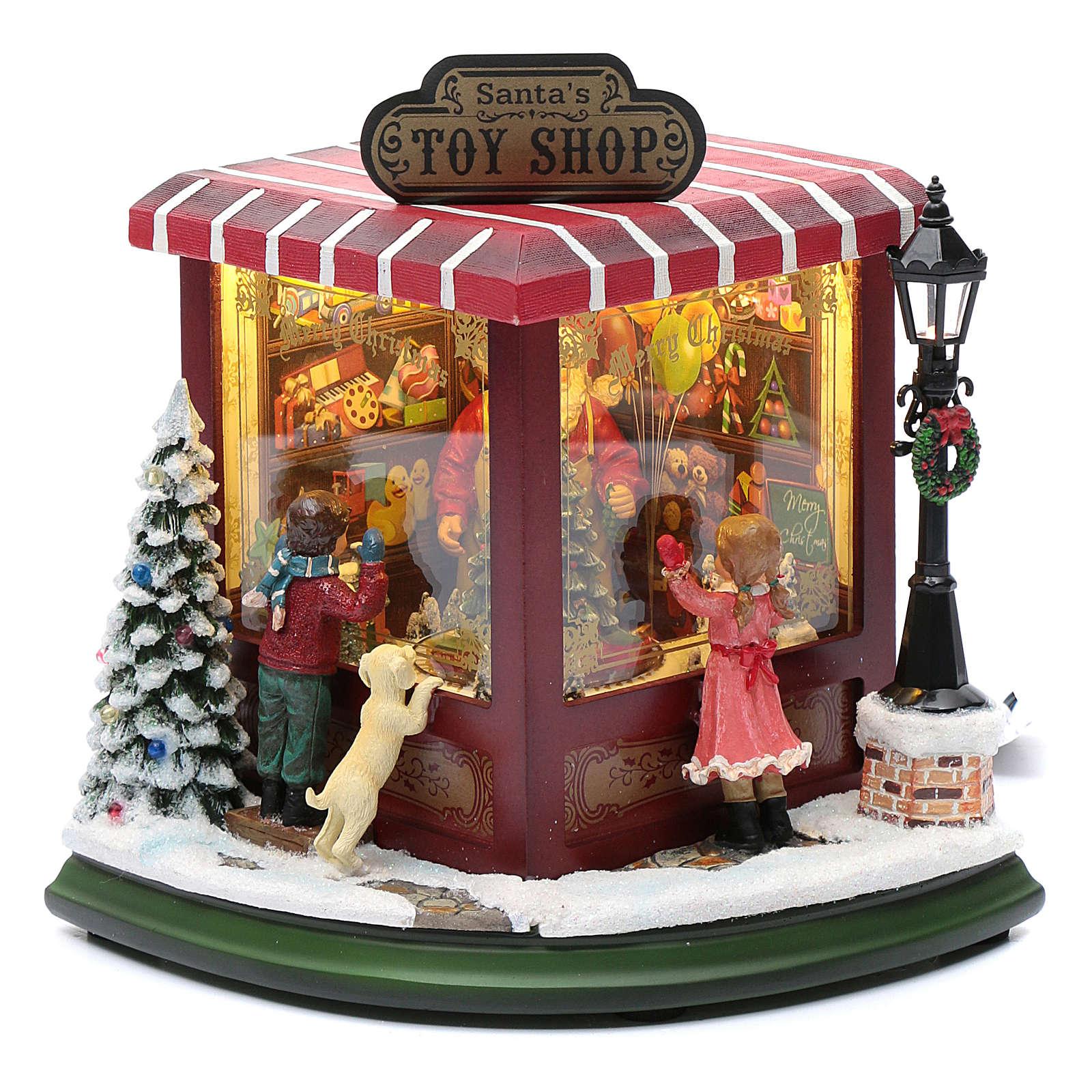 weihnachtlicher Spielzeugladen, 20x25x15 cm 3