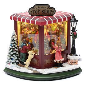 weihnachtlicher Spielzeugladen, 20x25x15 cm s1