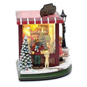 weihnachtlicher Spielzeugladen, 20x25x15 cm s4