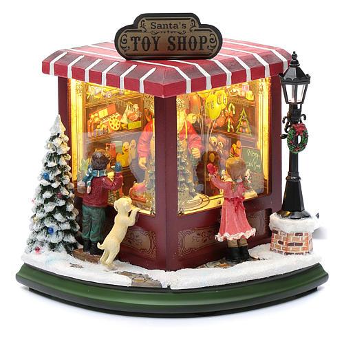 weihnachtlicher Spielzeugladen, 20x25x15 cm 2