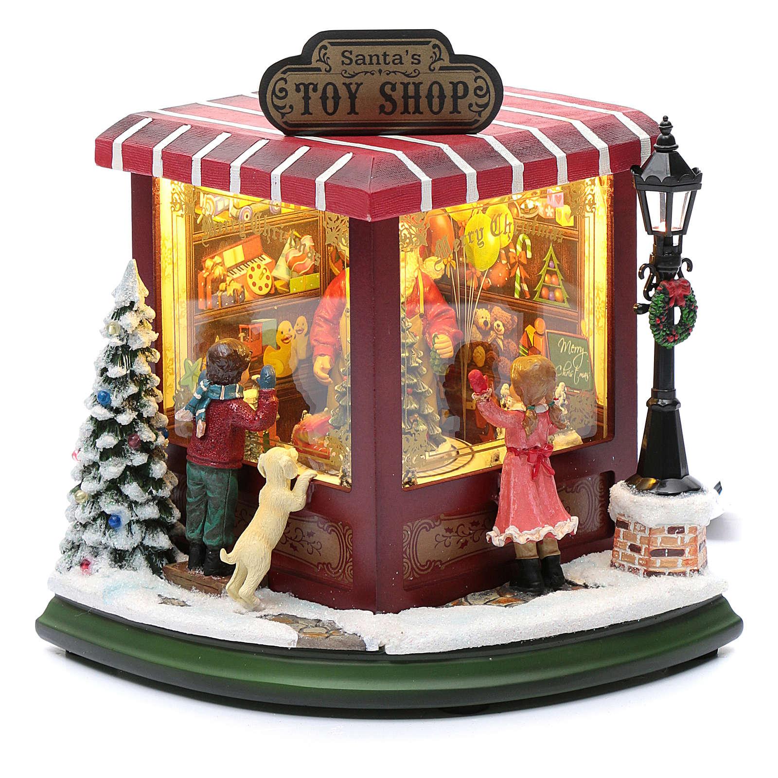 Negozio di giocattoli natalizi 20x25x15 cm 3