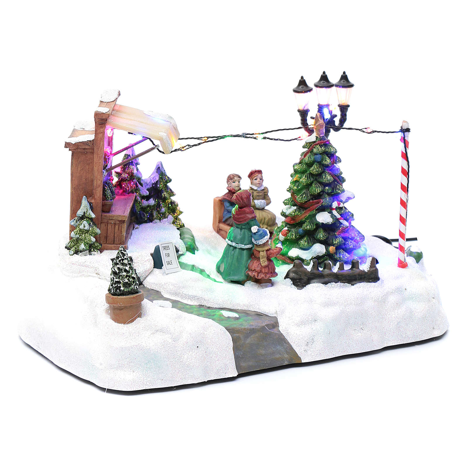 moving christmas village with tree sale and music 20x25x20 online