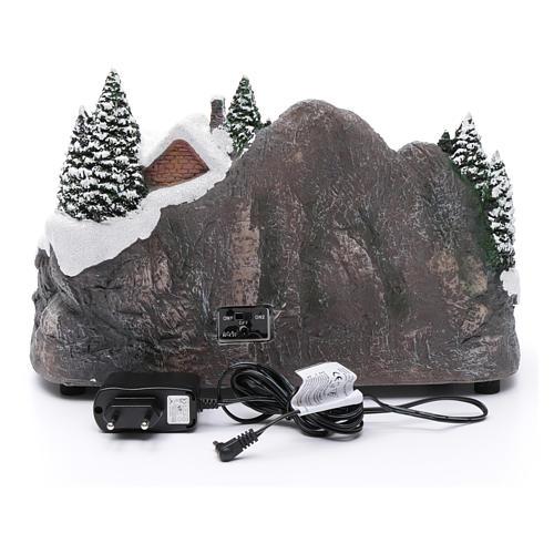 Villaggio natalizio illuminato musicale movimento albero natale 19X31X20 cm 5