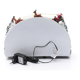 Villaggio natalizio luminoso musicale movimento pattinatori albero natale 24X33X21 cm s5