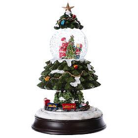 Bola de Nieve en vidrio Árbol de Navidad con Tren en Movimiento y Música 28 cm s5