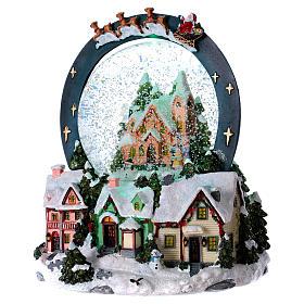 Snow globe with lights, movement 20 cm s3