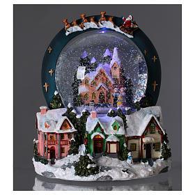 Sfera vetro neve luci movimento 20 cm resina s2