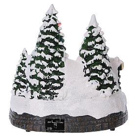 Cenário Natal trem movimento túnel Pai Natal rede 20x20x20 cm pilhas corrente s5