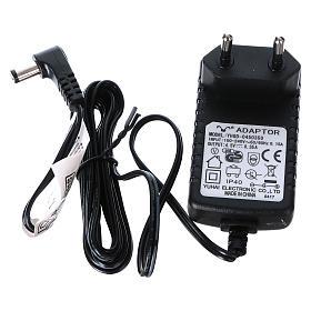 Villaggio Natalizio 25x25x25 cm luci fibra pattinatori movimento corrente batteria s6