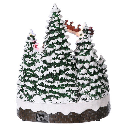 Christmas village with LED lights, moving children 30x25x25 cm 5