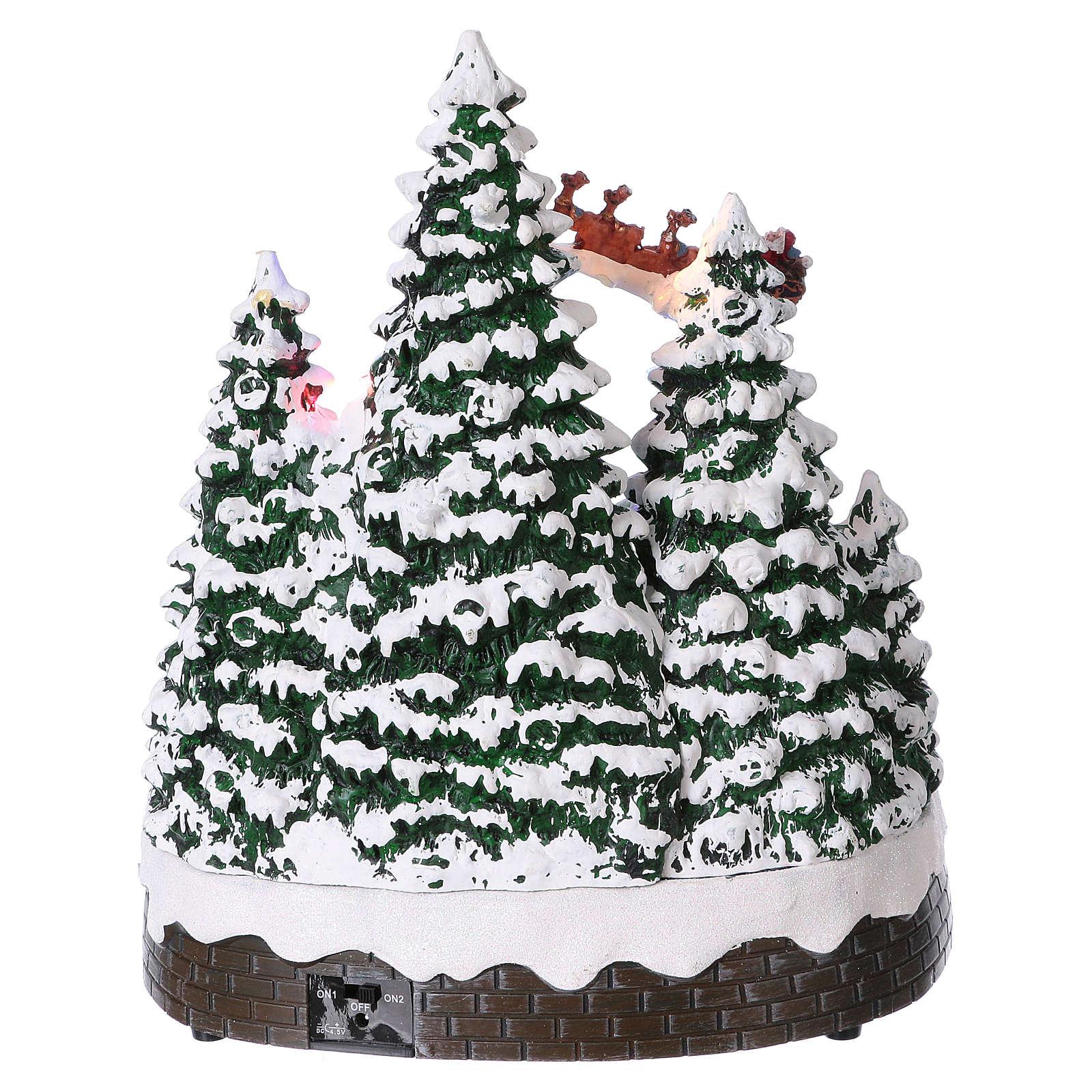 Paysage hivernal 30x25x25 cm enfants mouvement piles et courant 3