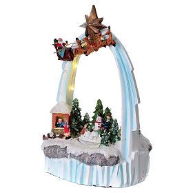 Paysage de Noël en résine 30x20x15 cm enfants mouvement piles s3