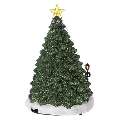 Christmas Counter.Holiday Toy Shop Christmas Scene 30x25x25 Cm With Moving Toy
