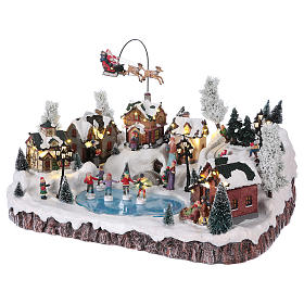 Christmas village with music movement and lights 30x50x35 cm electric s3