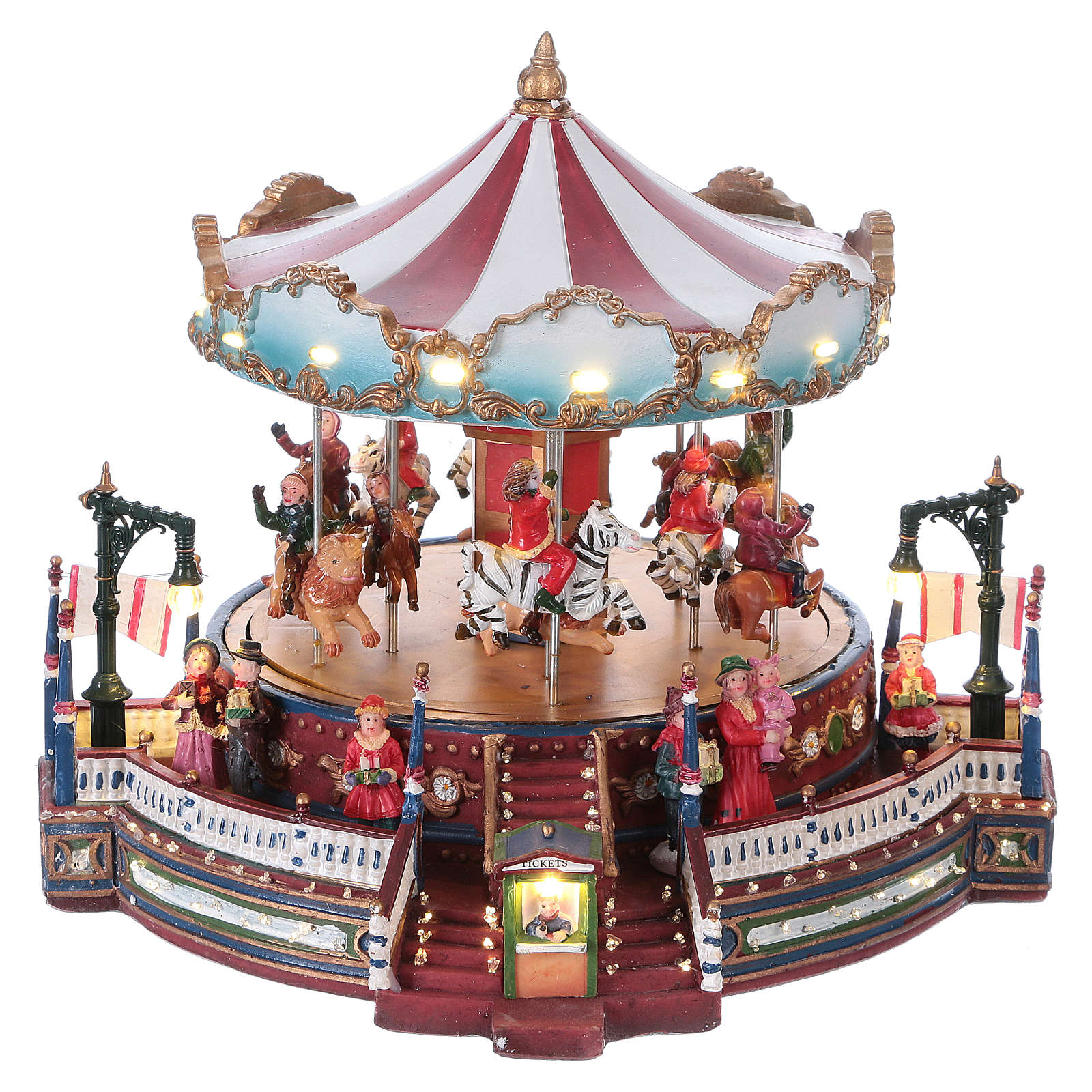 Christmas decoration carousel with lights, music and movement 25x30x30 cm 3