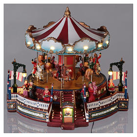 Christmas decoration carousel with lights, music and movement 25x30x30 cm s2