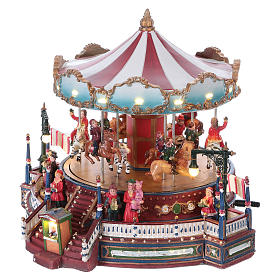 Christmas decoration carousel with lights, music and movement 25x30x30 cm s3