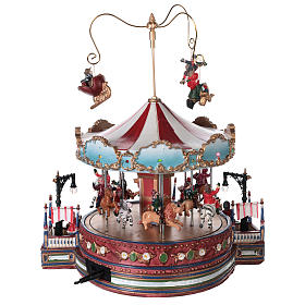 Christmas decoration carousel with lights, music and movement 25x30x30 cm s5