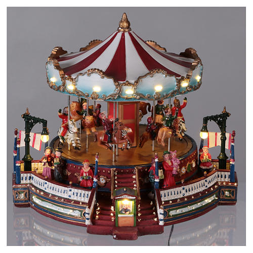 Christmas decoration carousel with lights, music and movement 25x30x30 cm 2