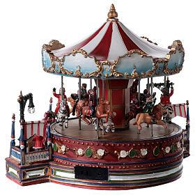 Décor de Noël avec carrousel mouvement lumières musique 25x30x30 cm courant s5