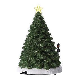 Winterszene, Weihnachtsmann beim Weihnachtsbaumverkauf, 35x20 cm s5