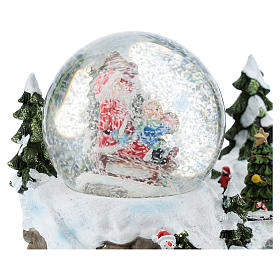 Glass ball with Santa Claus in a setting 15x20x15 cm s4