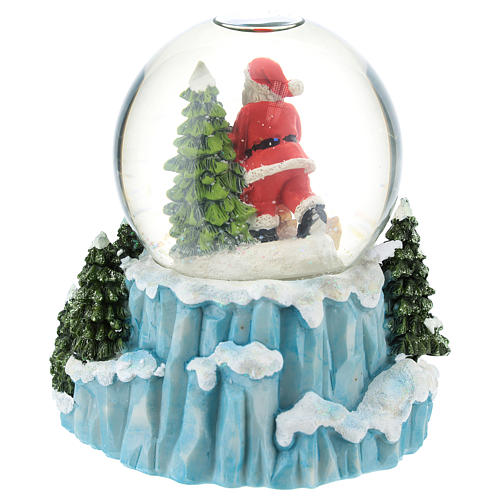 Glass ball with Santa Claus and sled h. 15 cm 4