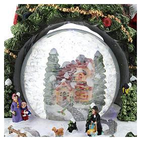 Schneekugel mit Winterdorf und Weihnachtsbaum, 25 cm hoch s2