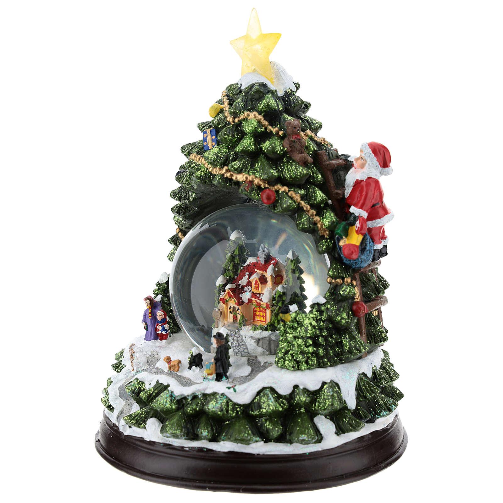 Christmas tree with glass ball h. 25 cm 3
