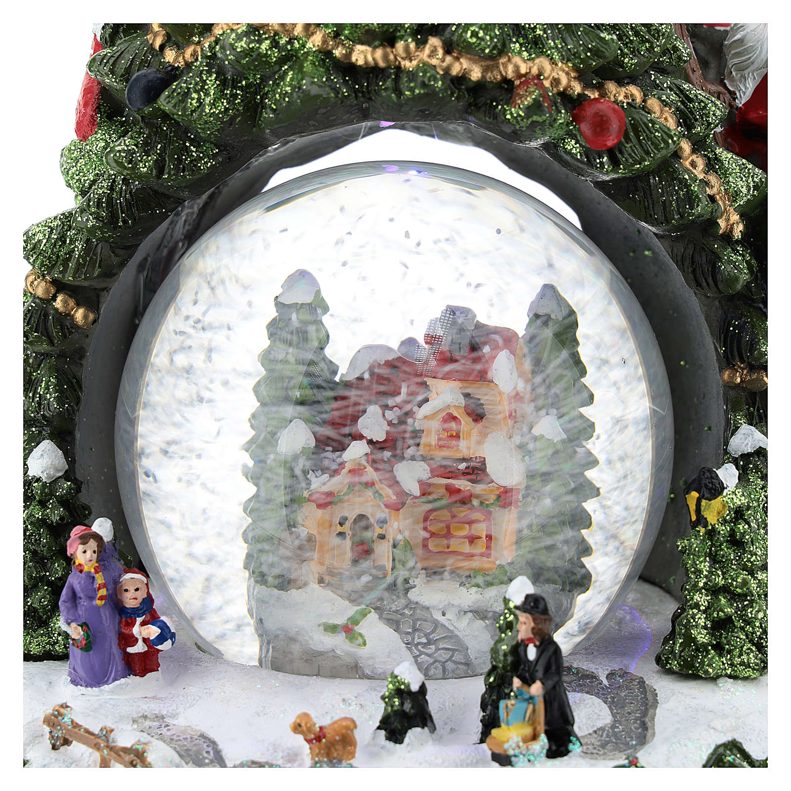 Christmas tree statue with snow globe h. 25 cm 3