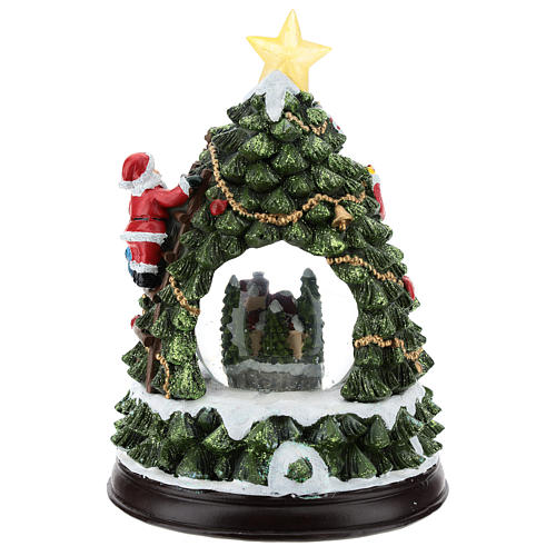 Christmas tree statue with snow globe h. 25 cm 5