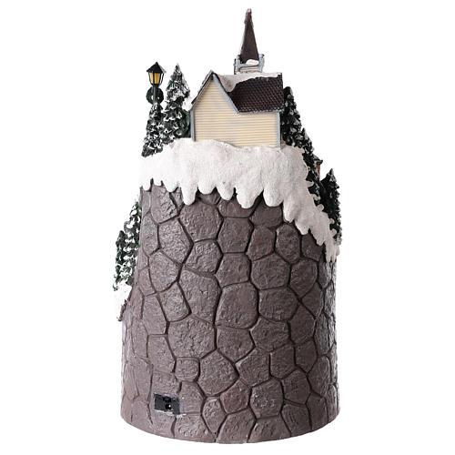 Pueblo navideño realizado de resina 42x24 cm estructura con más niveles 5