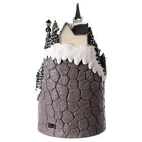 Villaggio natalizio realizzato in resina 42x24 cm strutturato su più livelli s5