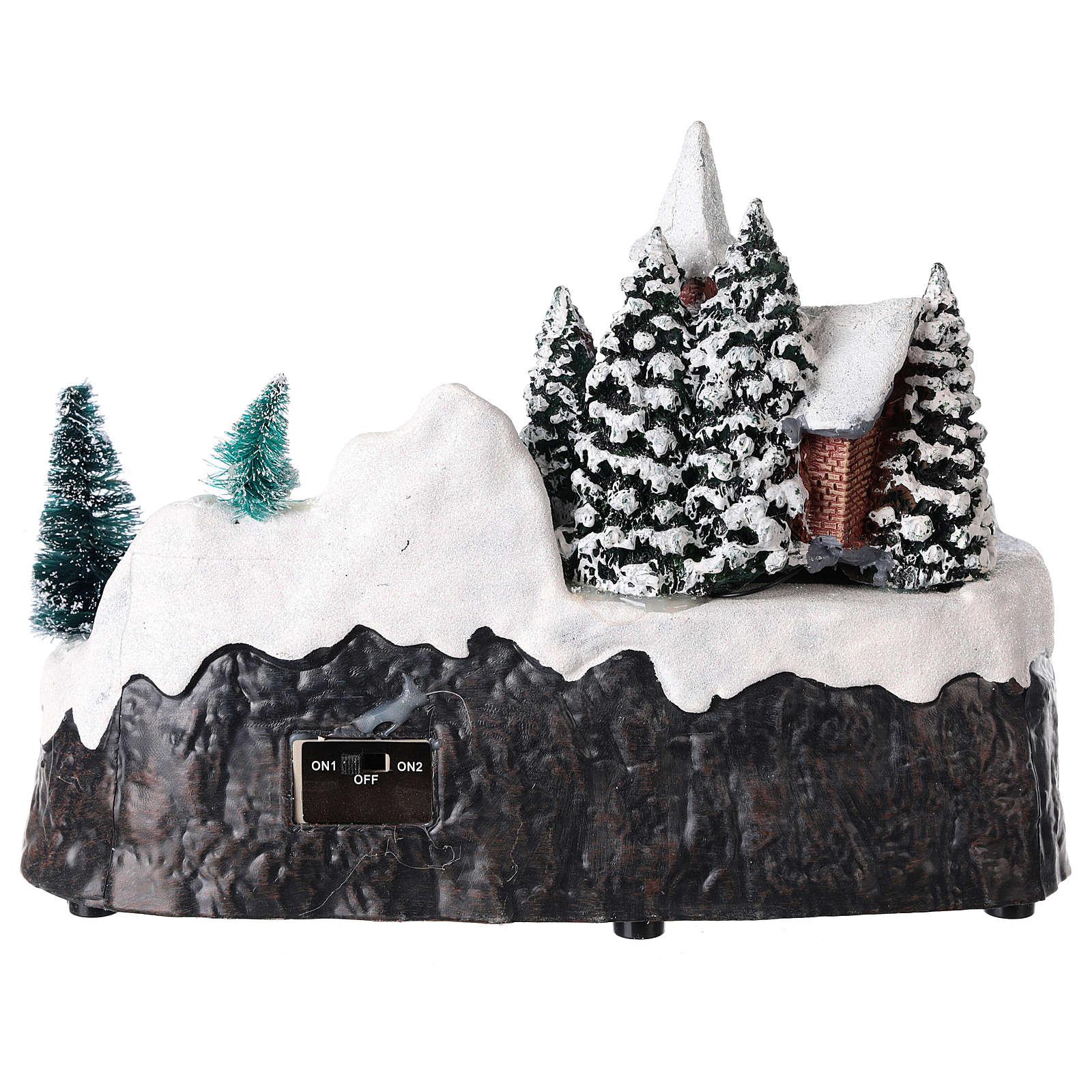 Village de Noël avec église et chute d'eau éclairée 20x25x15 cm 3