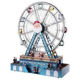Roda-gigante para cenário natalino com música e iluminação 48x38x17 cm s3