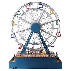 Roda-gigante para cenário natalino com música e iluminação 48x38x17 cm s5