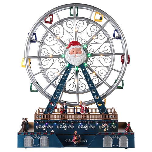 Roda-gigante para cenário natalino com música e iluminação 48x38x17 cm 1