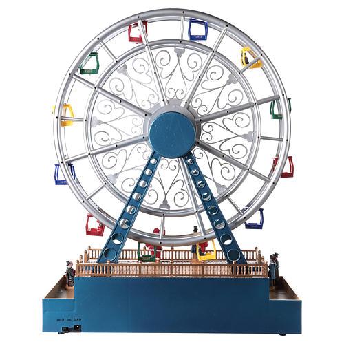 Roda-gigante para cenário natalino com música e iluminação 48x38x17 cm 5