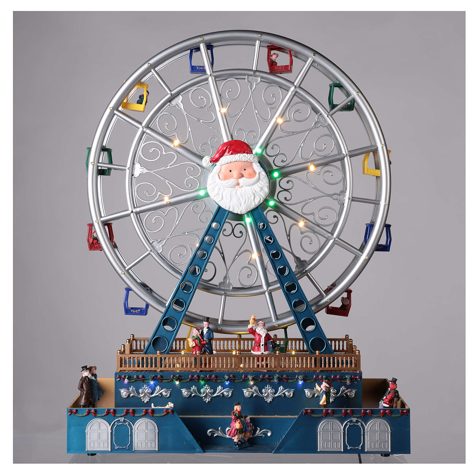 Christmas ferris wheel for village with music and lights 48x38x17 cm 3