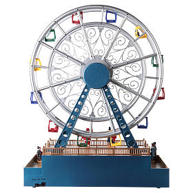 Christmas ferris wheel for village with music and lights 48x38x17 cm s5