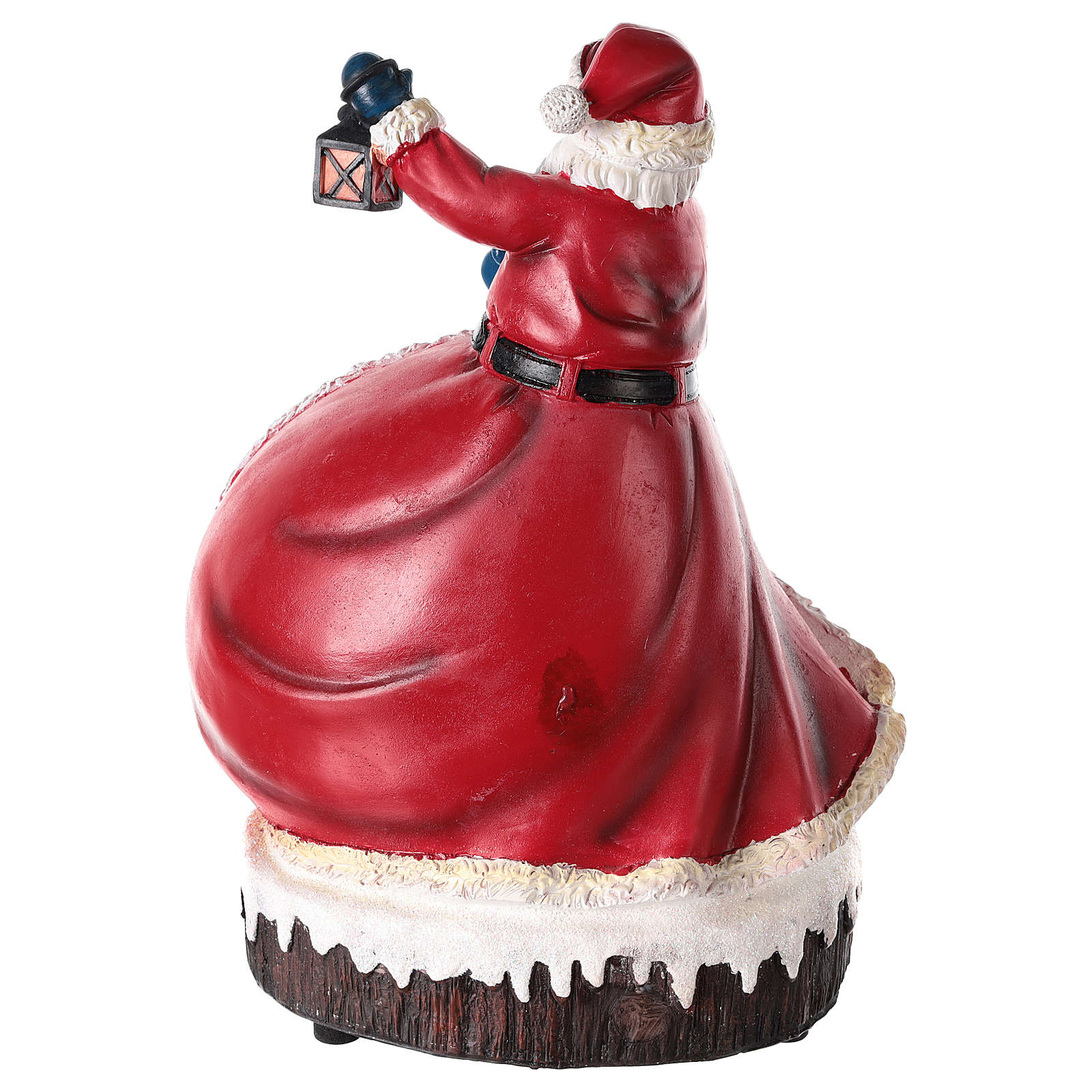 Figura de Pai Natal com aldeia 30x20x15 cm 3