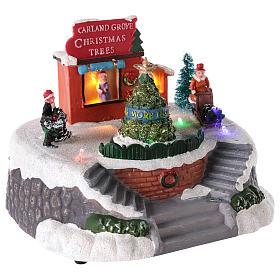 Magasin de sapins de Noël pour village de Noël 15x20 cm s4