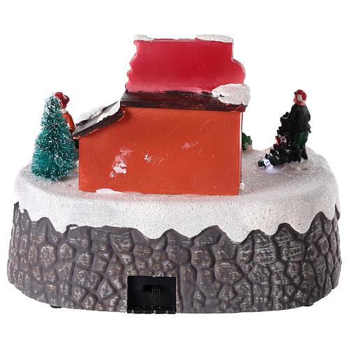 Magasin de sapins de Noël pour village de Noël 15x20 cm 5