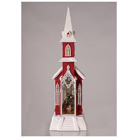 Globo de neve em forma de igreja com natividade 50x15x15 cm s2