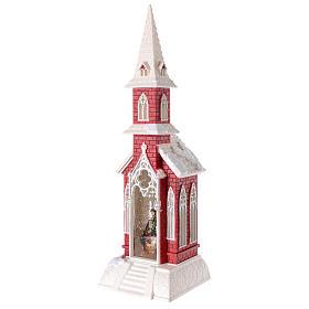 Globo de neve em forma de igreja com natividade 50x15x15 cm s4
