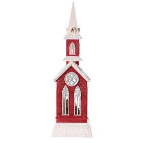 Globo de neve em forma de igreja com natividade 50x15x15 cm s6