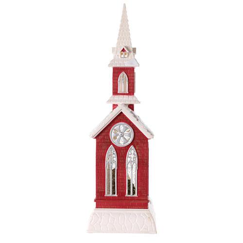 Globo de neve em forma de igreja com natividade 50x15x15 cm 6