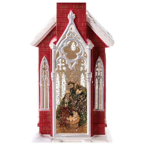 Church snow globe with Nativity Scene 50x15x15 3